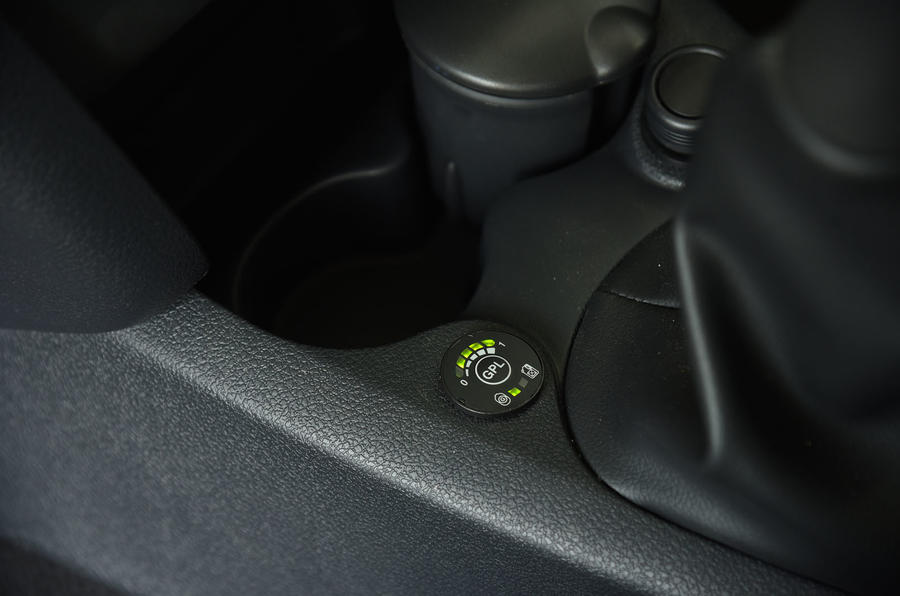 Dacia Sandero Stepway LPG indicator