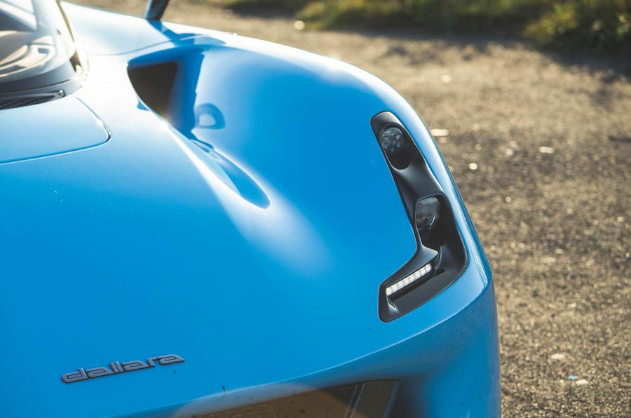 Dallara Stradale 2019 UK first drive review - headlights