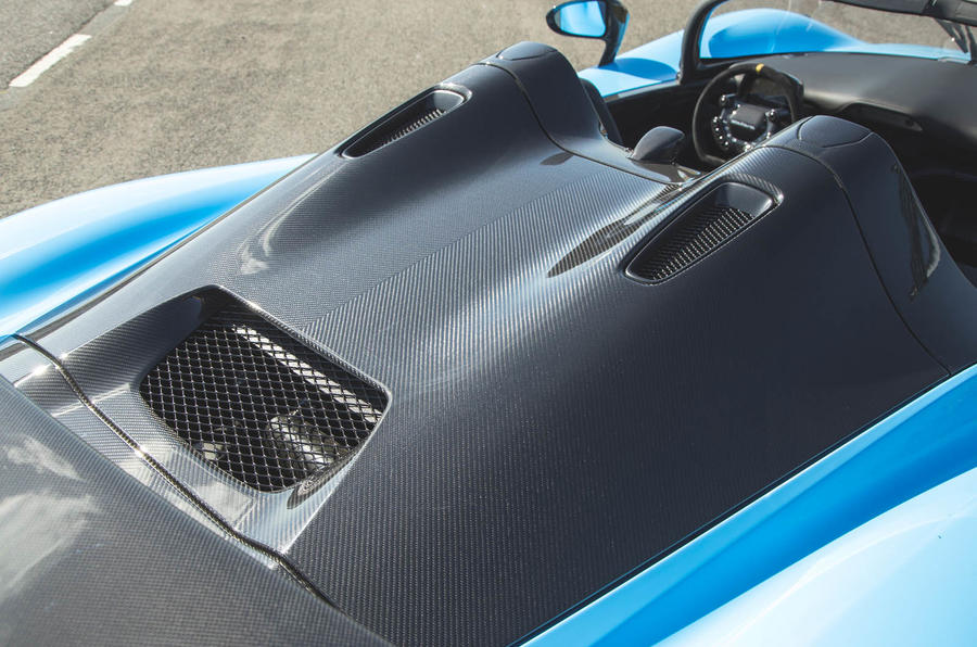 Dallara Stradale 2019 UK first drive review - engine cover