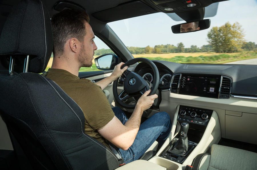 Dan Prosser driving the Skoda Karoq
