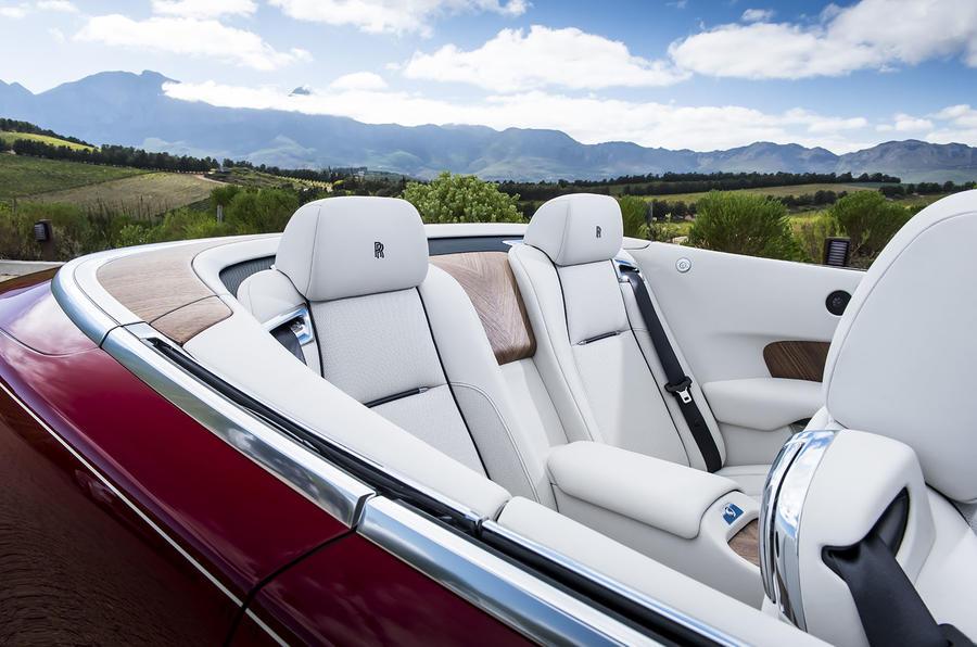 Rolls-Royce Dawn rear seats