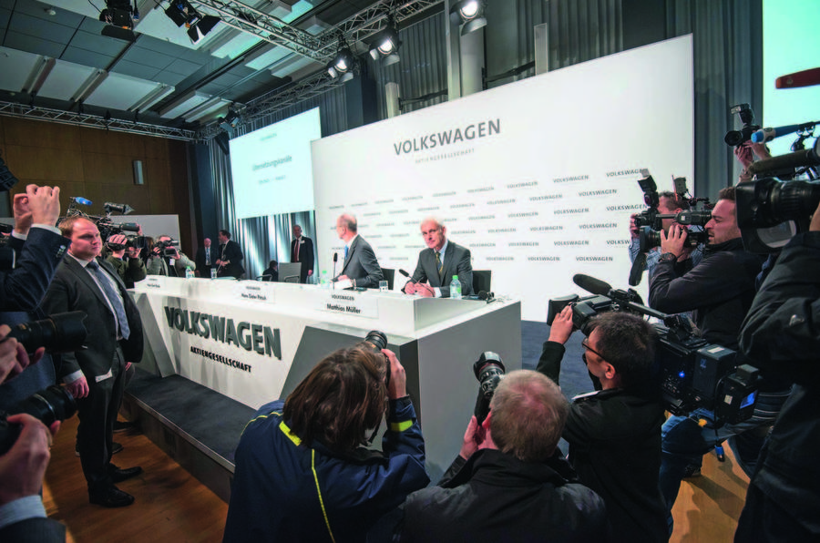 Volkswagen press conference - chaired by Matthias Muller