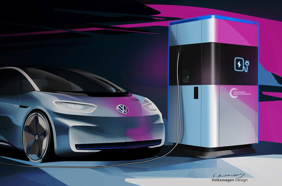 Volkswagen unveils mobile charging stations