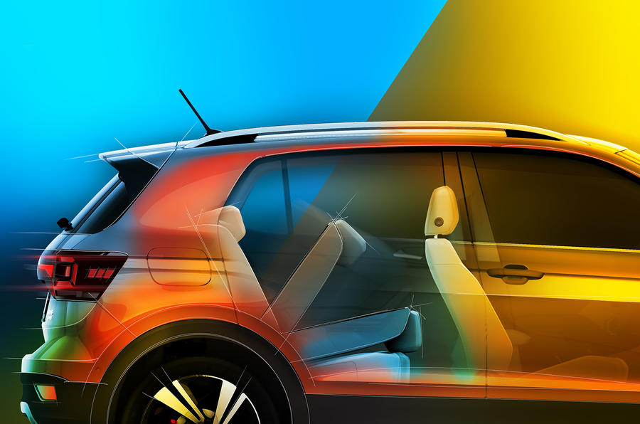 2019 Volkswagen T-Cross: official preview demonstrates boot space options