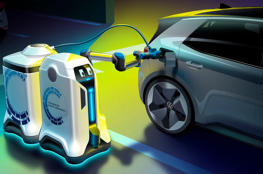 Volkswagen mobile robot revolutionises electric auto charging