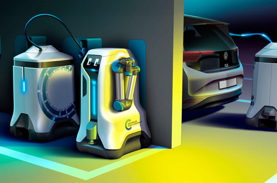 Volkswagen Creates Roving Robot To Charge Electric Cars 12/27/2019