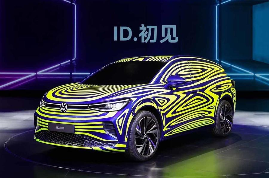 This is the new electric SUV Volkswagen ID.4 in disguised form
