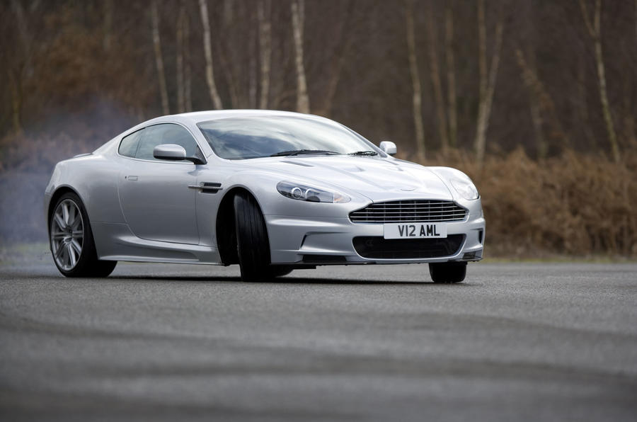 Aston Martin DBS drifting - front