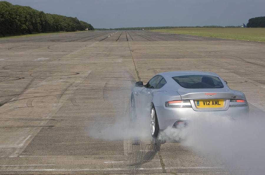 Aston Martin DBS burnout - rear