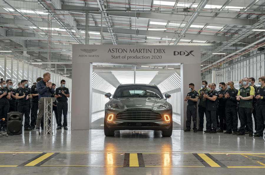 Aston Martin DBX production - St Athan, Wales