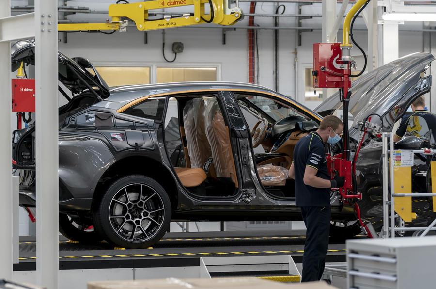 2020 Aston Martin DBX at St Athan factory