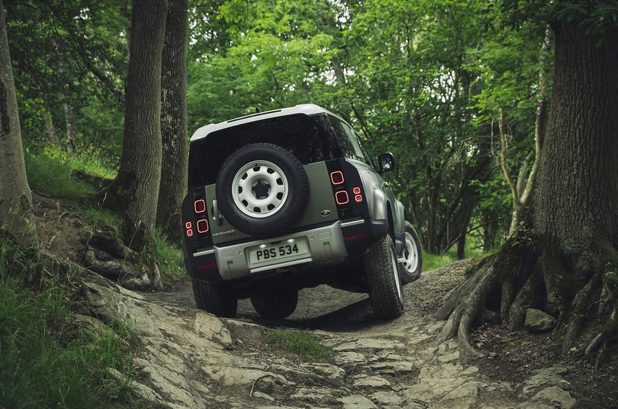 2020 Land Rover Defender reveal - off-roading rear