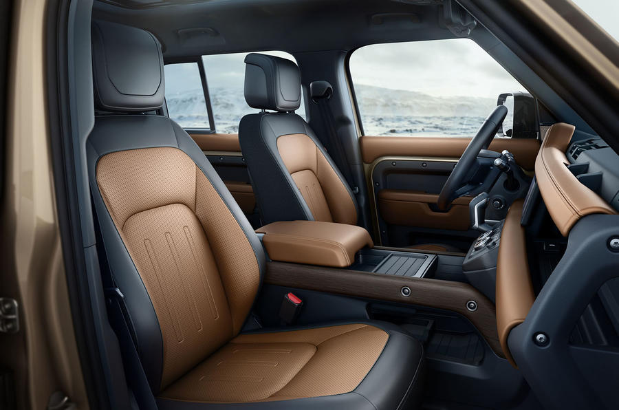 2020 Land Rover Defender reveal - front seats