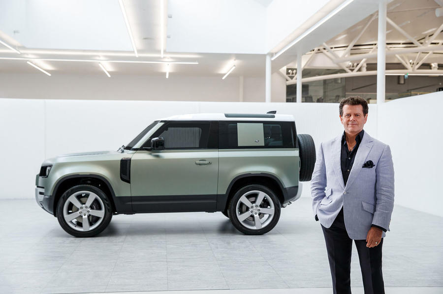 Gerry McGovern with 2020 Land Rover Defender