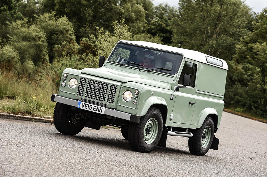 2015 land rover defender 90 heritage uk review review autocar. Black Bedroom Furniture Sets. Home Design Ideas