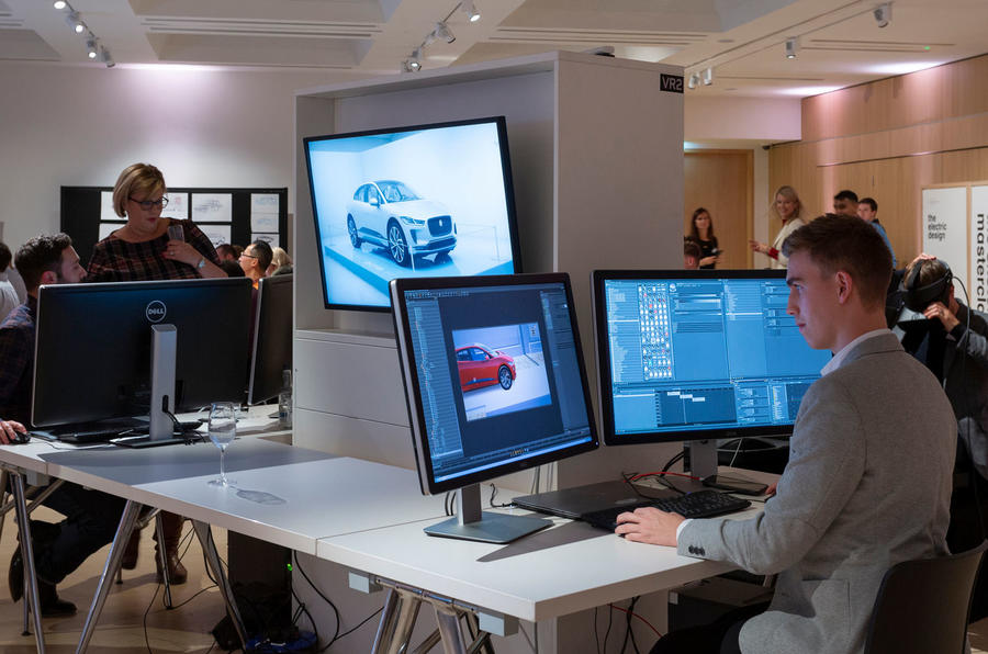 Jaguar design museum lates - dual monitors