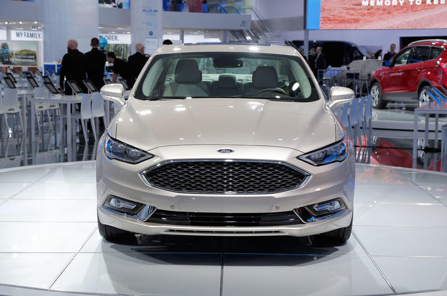Ford Mondeo 2018 Facelift >> Ford Fusion facelift hints at future look for Mondeo | Autocar