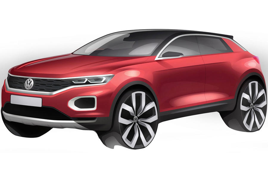 Volkswagen T-Roc: new sketch shows Qashqai rival's details