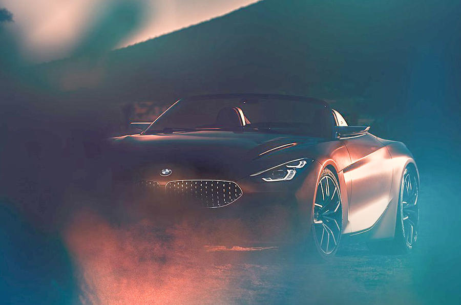 BMW Z4 Concept previewed - new picture shows sleek open-roof design