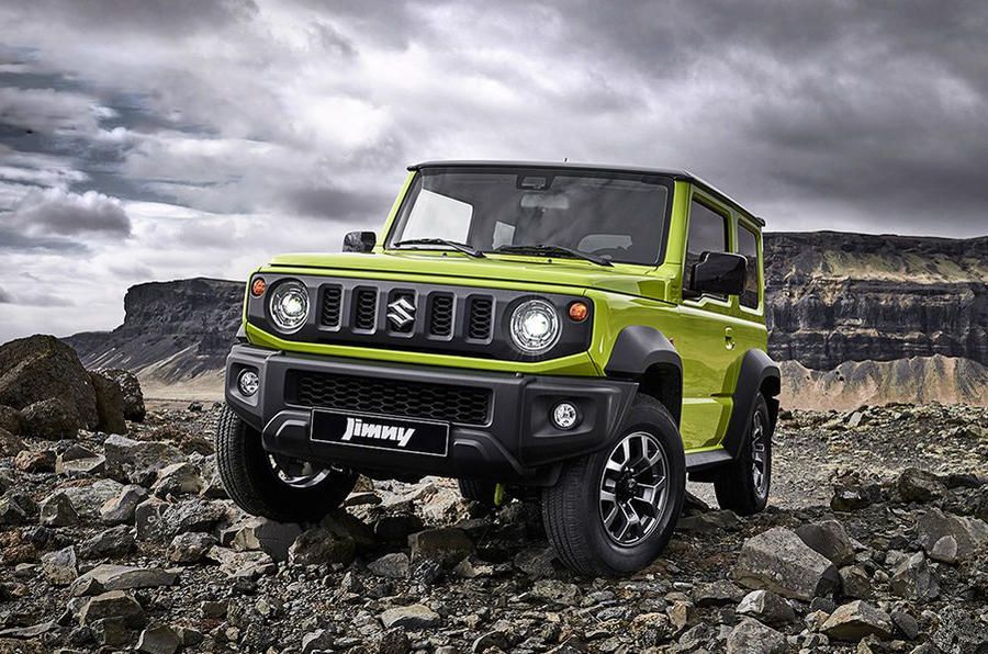 Suzuki Jimny 2019 official reveal photos three quarters