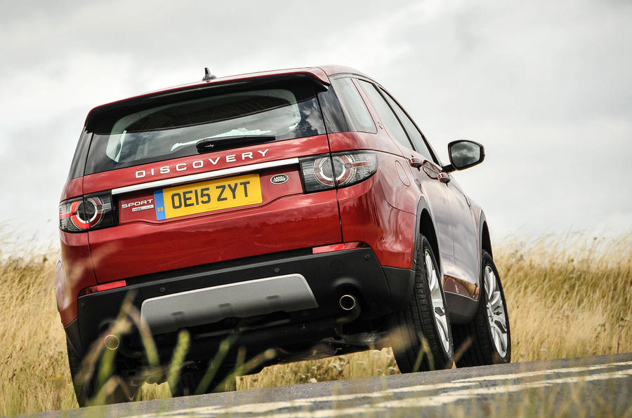 Land Rover Discovery Sport rear cornering