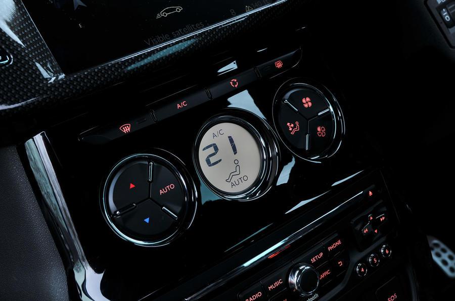 Citroën DS 3 climate controls