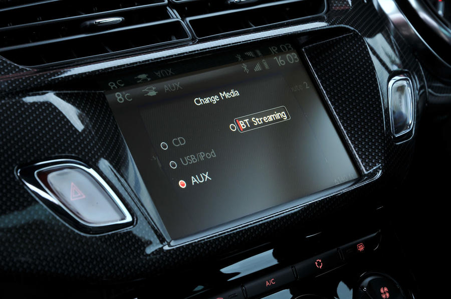Citroën DS 3 infotainment