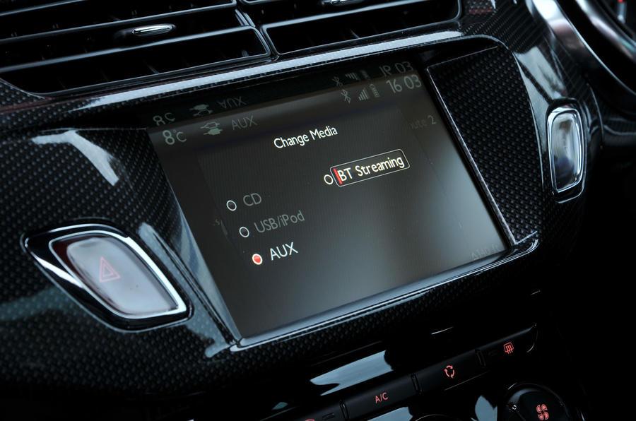 Citroën DS 3 infotainment