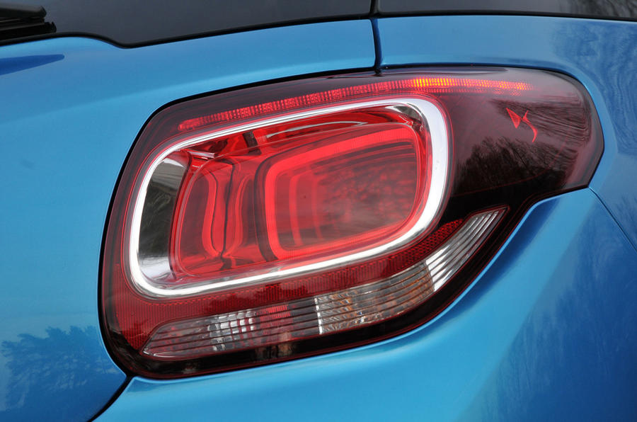 Citroën DS 3 rear lights
