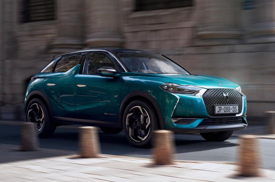 new ds 3 crossback revealed with petrol diesel and electric power autocar. Black Bedroom Furniture Sets. Home Design Ideas