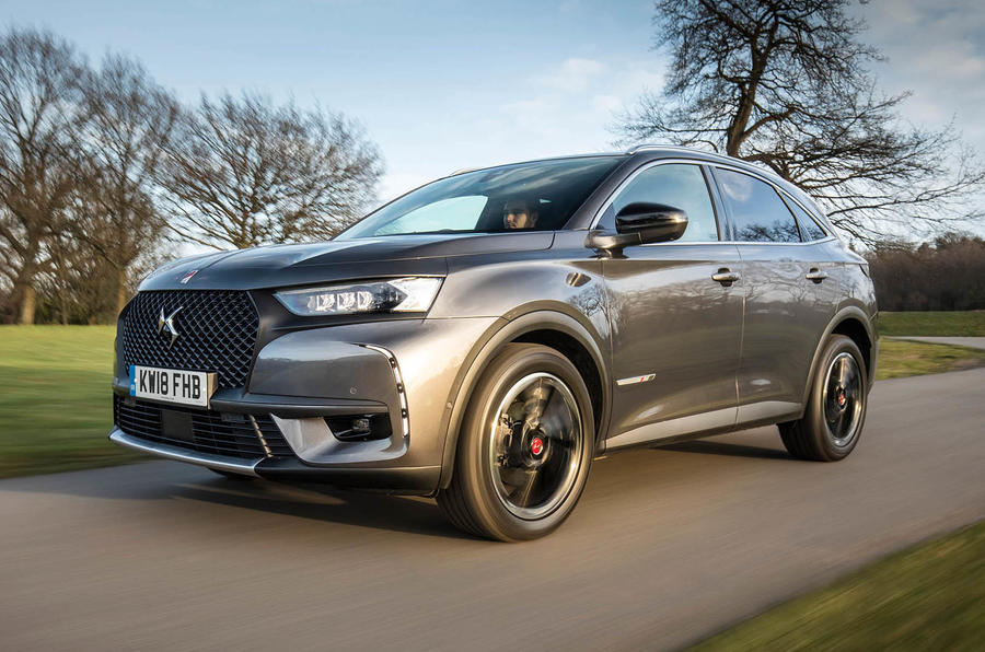 DS 7 Crossback BlueHDi 180 Performance Line 2018 review hero front