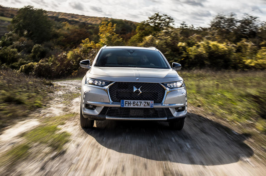 DS 7 Crossback E-Tense 2019 first drive review - hero nose