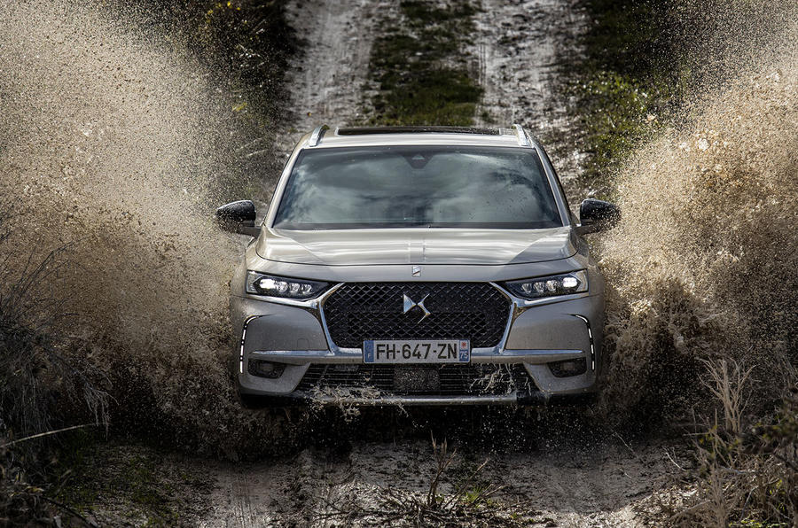 DS 7 Crossback E-Tense 2019 first drive review - wading front