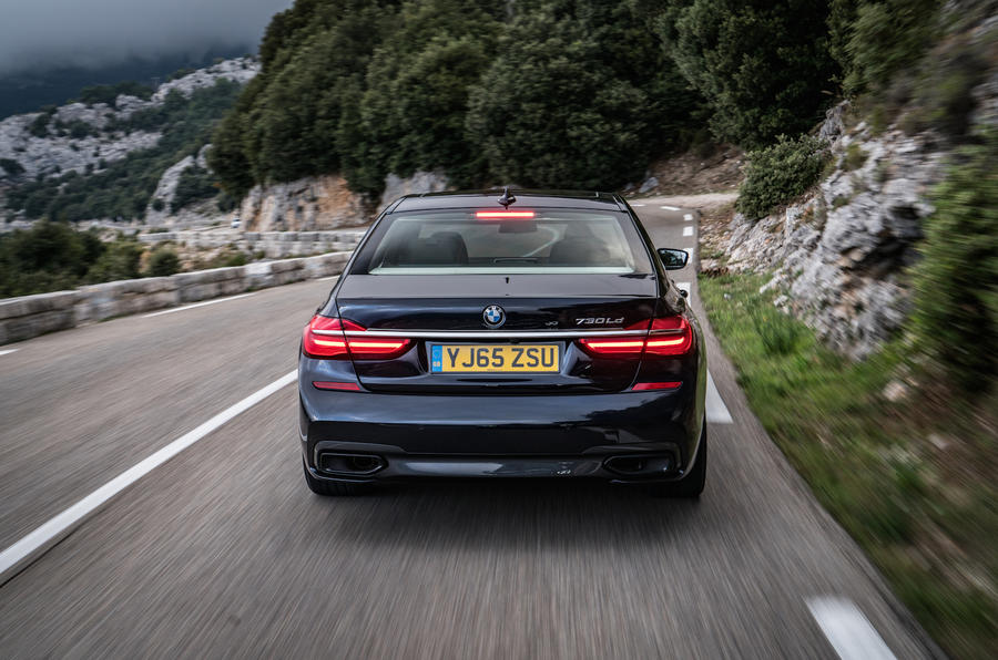 BMW 730Ld rear end