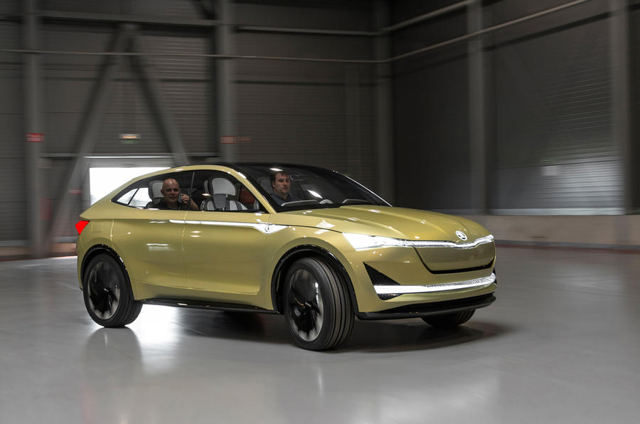 first drive skoda vision e concept review autocar. Black Bedroom Furniture Sets. Home Design Ideas