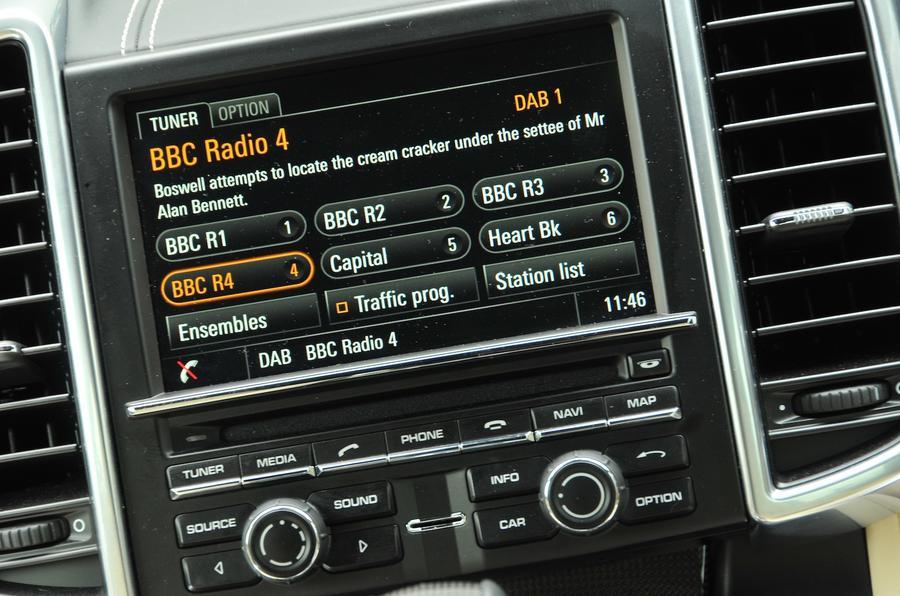 Porsche infotainment system