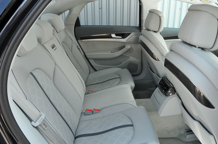 Audi S8 Plus rear seats