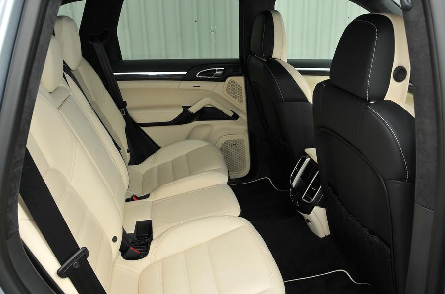 Porsche Cayenne Turbo S rear seats