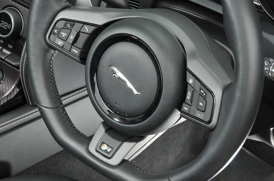 Jaguar F-type steering wheel