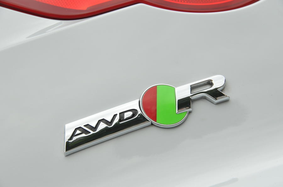 Jaguar F-type R AWD badge