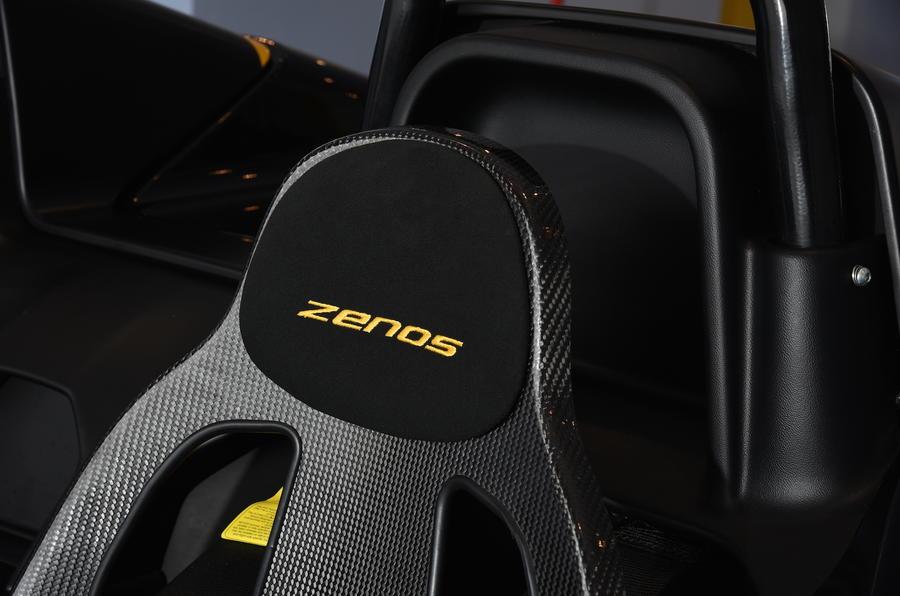 Zenos E10 R seat stitching