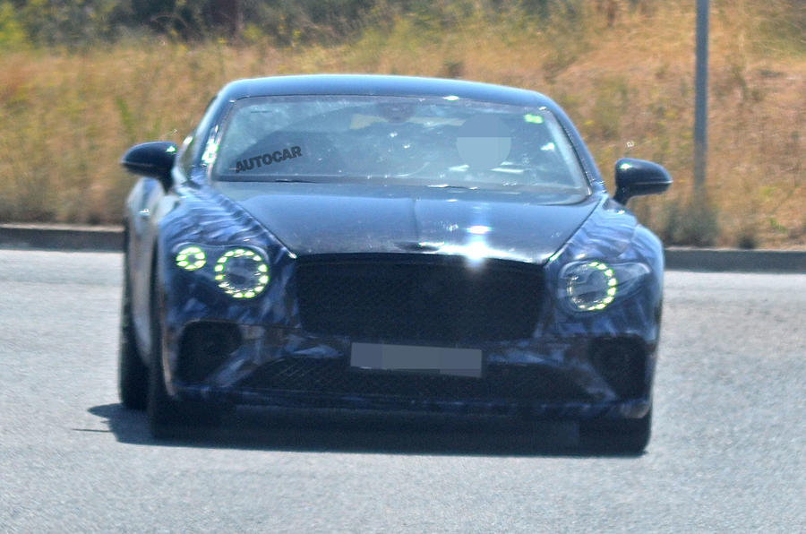Next Bentley Continental GT seen in lightest camouflage yet