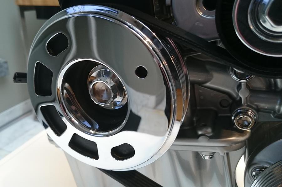 Three-cylinder Volkswagen Golf Bluemotion engine