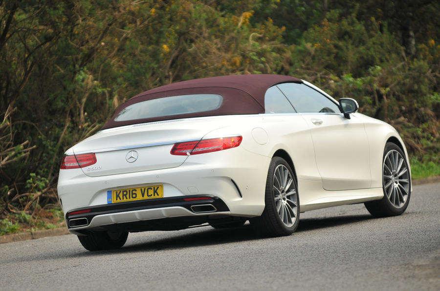Mercedes-Benz S500 Cabriolet roof up