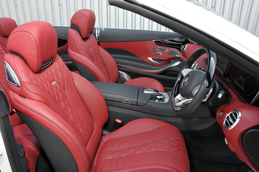 Mercedes-Benz S500 Cabriolet interior