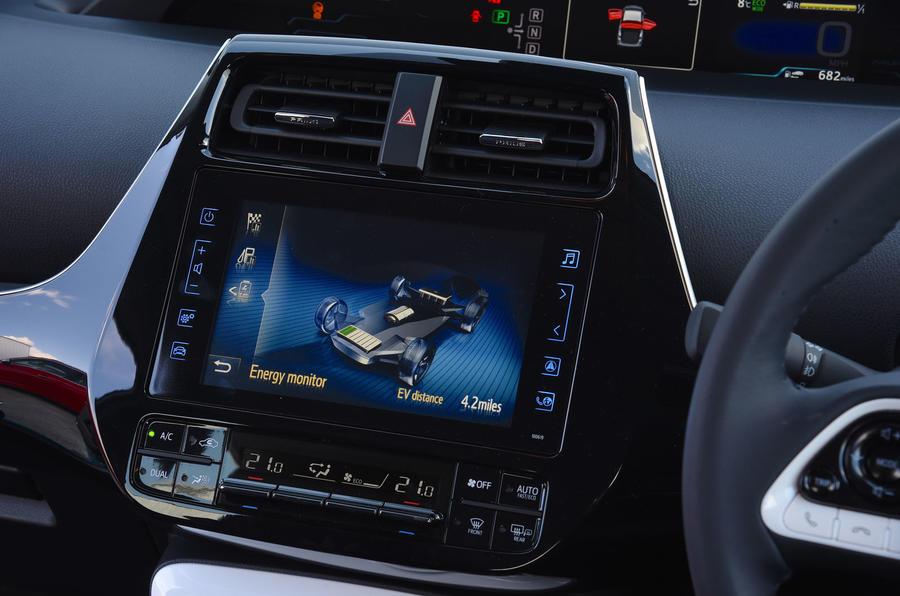 Toyota Prius Plug-in infotainment system