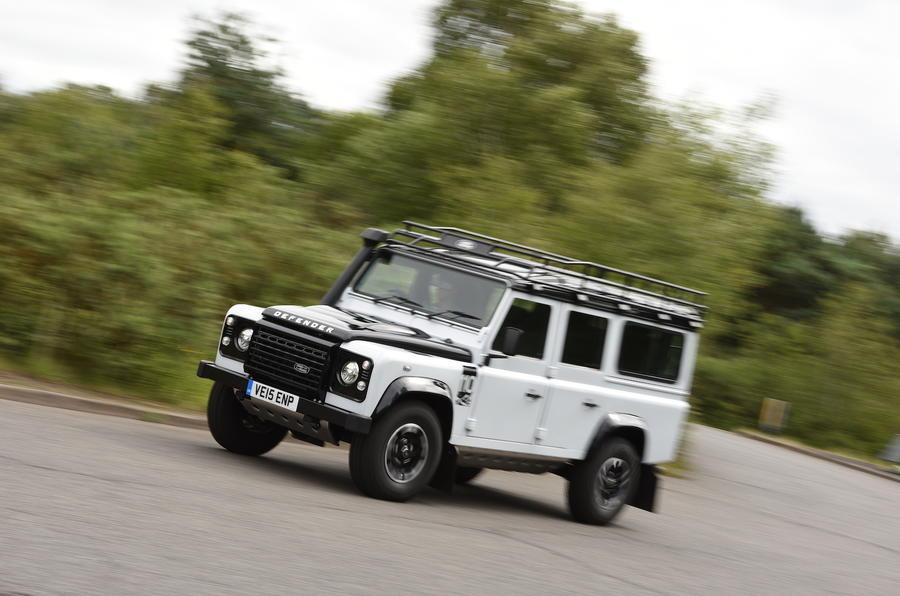 Land Rover Defender 110 hard cornering