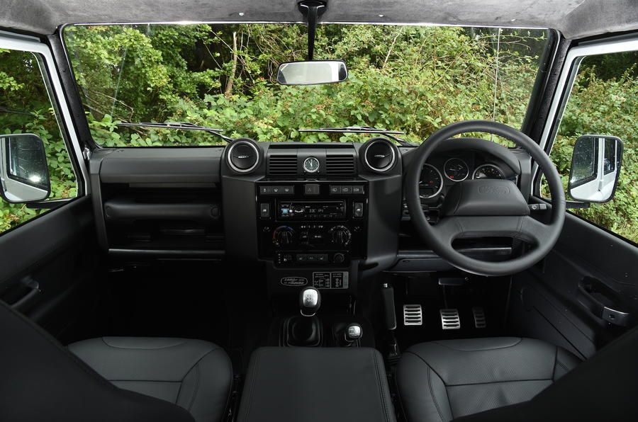 Land Rover Defender 110 dashboard