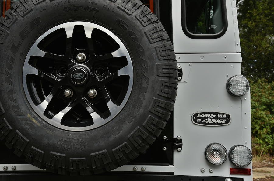 Land Rover Defender 110 spare tyre