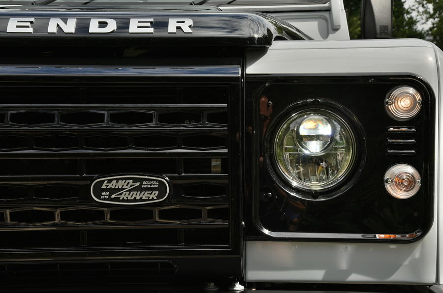 Land Rover Defender headlights